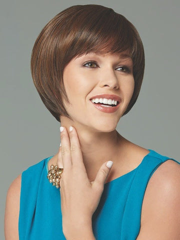 Above the-chin, layered with full bangs is ready-to-wear | Color: Light-Brown