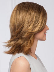 Top-of-head hairpiece that blends seamlessly with mid-length to longer layered hair | Color: GL14-16SS