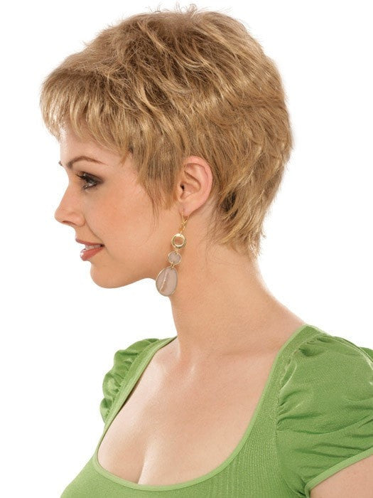 Casey Wig by Estetica Designs | Profile View | Color: R24/18BT