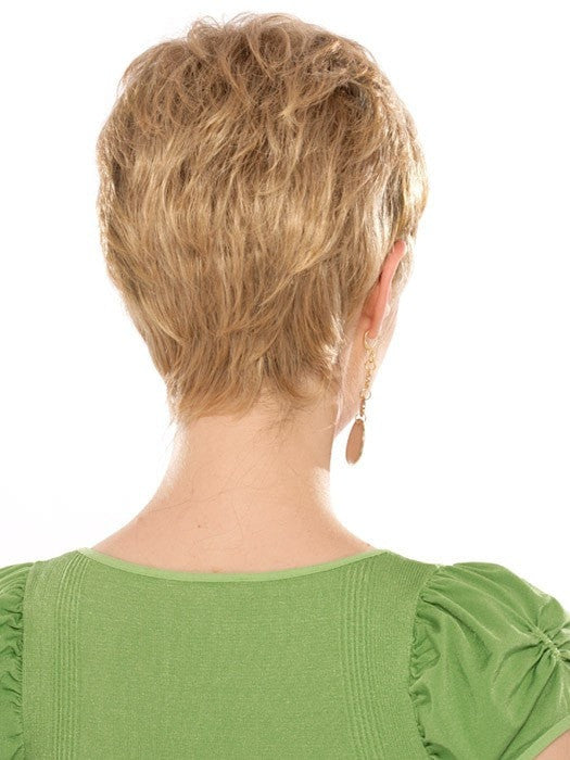 Casey Wig by Estetica Designs | Back View | Color: R24/18BT
