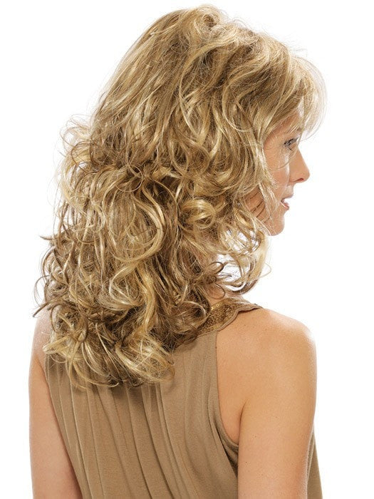 Estetica Felicity : Profile View | Color R12/26CH (Light Brown with Golden Blonde Chunky Highlights)