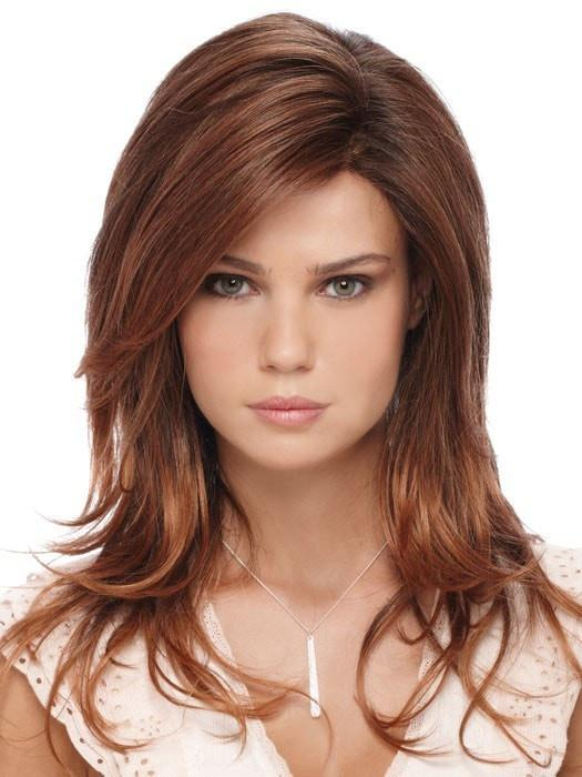 ORCHID by ESTETICA in RT330RT4 | Medium Auburn Tipped with Dark Auburn and Dark Brown Roots
