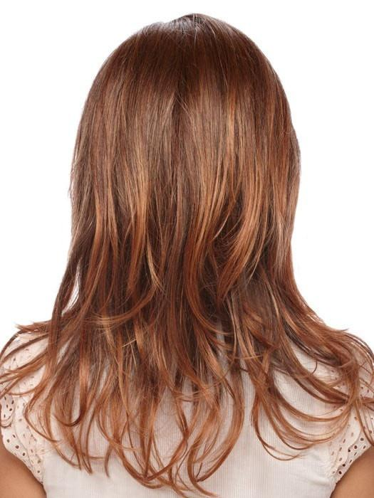 RT330RT4 | Medium Auburn Tipped with Dark Auburn and Dark Brown Roots