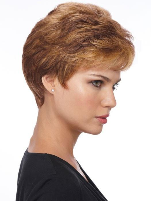 Estetica Designs Wigs Petite Nancy : Profile View | Color R30/28/26