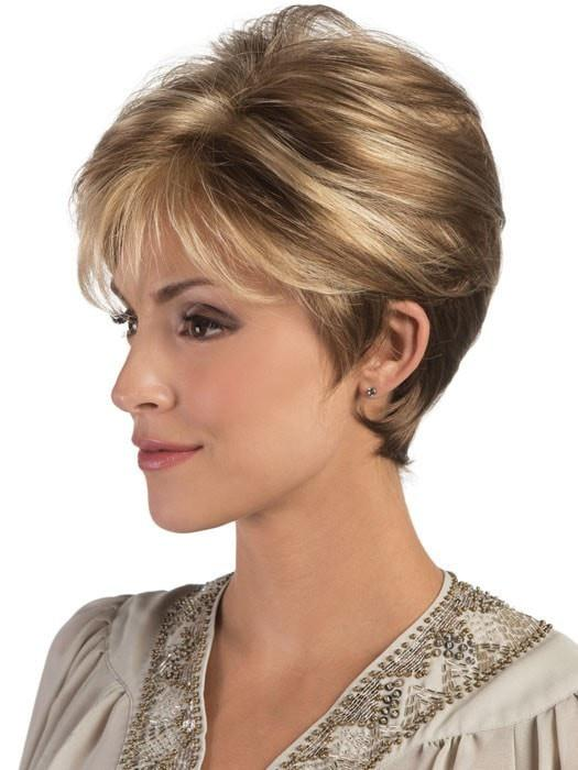Estetica Designs Tori Wig : Side View | Color R12/26CH