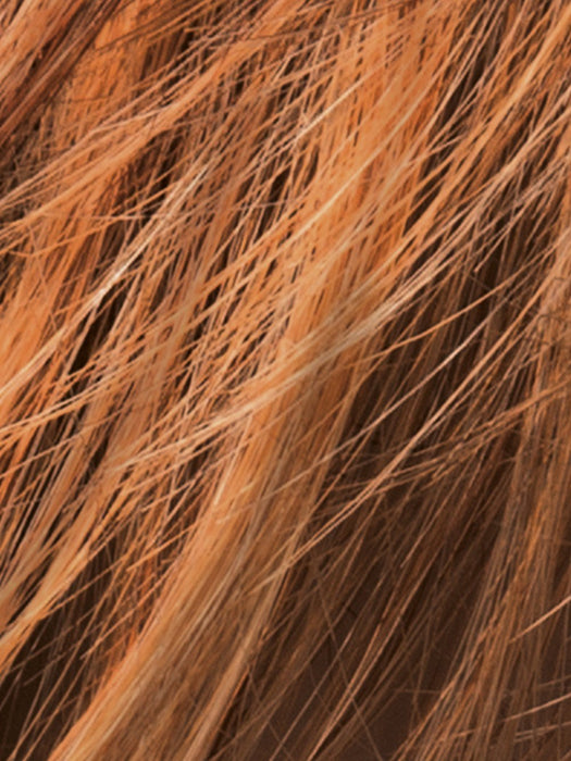 Mango Red Rooted | Medium Brown, Light Brown, and Light Auburn blend with Dark Roots