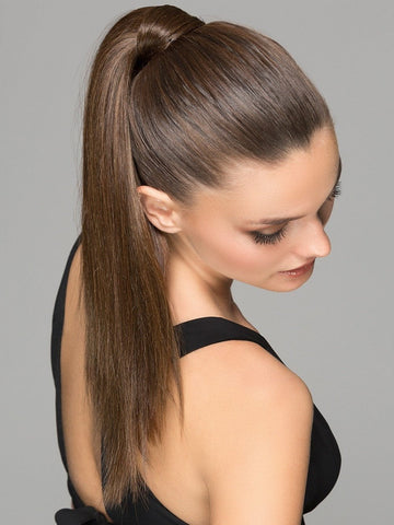 Wrap Around Ponytail | NUT BROWN