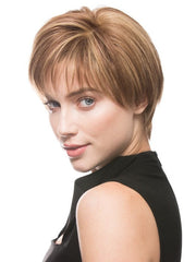 Blow dry the bang to loosen the part