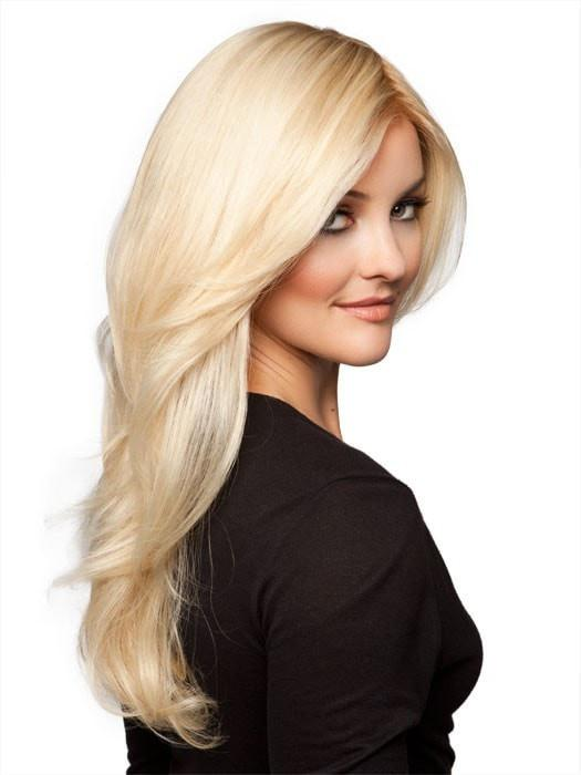 CASCADE by Ellen Wille in LIGHT-CHAMPAGNE-ROOTED | Pearl Platinum and Light Golden Blonde Blend with Medium Brown Roots