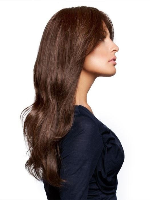The softly blended layers help give the style fluid, natural movement.  (This piece has been styled and curled)