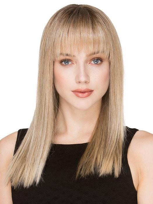 CHER by Ellen Wille in SANDY BLONDE ROOTED | Medium Honey Blonde, Light Ash Blonde, and Lightest Reddish Brown Blend with Dark Roots