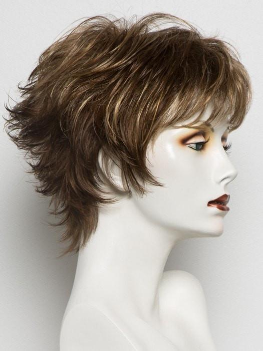 TOBACCO MIX | Medium Brown base with Light Golden Blonde highlights and Light Auburn lowlights