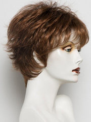 HAZELNUT ROOTED | Medium Brown base with  Medium Reddish Brown and Copper Red highlights and Dark Roots