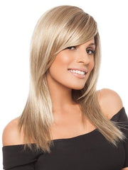 CODE MONO by Ellen Wille in SANDY BLONDE ROOTED | Medium Honey Blonde, Light Ash Blonde, and Lightest Reddish Brown Blend with Dark Roots