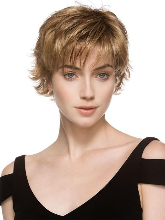 DATE by Ellen Wille in GINGER ROOTED | Light Honey Blonde, Light Auburn, and Medium Honey Blonde Blend with Dark Roots