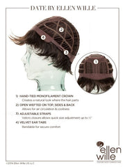 Date Large | Synthetic Wig (Mono Crown)