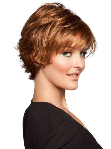 DATE by Ellen Wille in 30/31-30 | Medium Auburn with Medium to Light Copper Red on top, with a Medium Auburn nape
