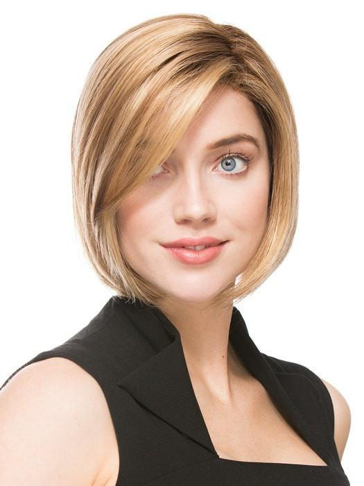 ELITE by Ellen Wille in GINGER ROOTED | Light Honey Blonde, Light Auburn, and Medium Honey Blonde Blend with Dark Roots