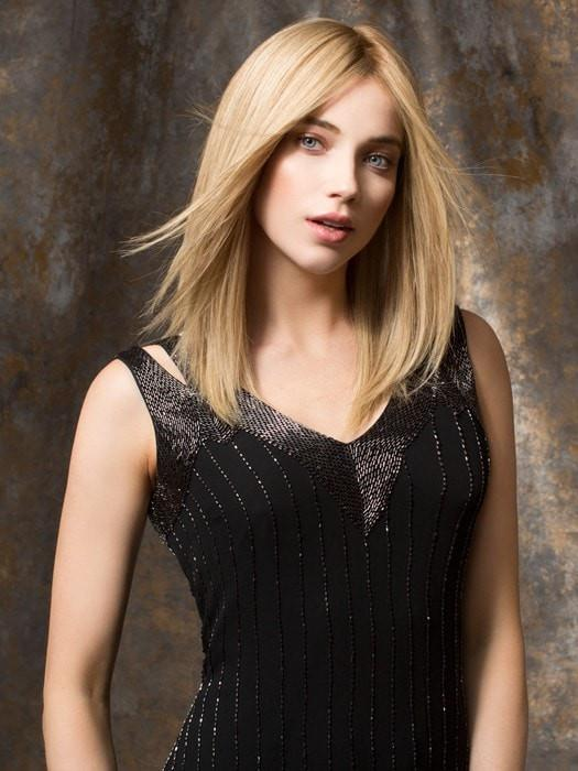EMOTION Ellen Wille in SANDY BLONDE ROOTED | Medium Honey Blonde, Light Ash Blonde, and Lightest Reddish Brown Blend with Dark Roots
