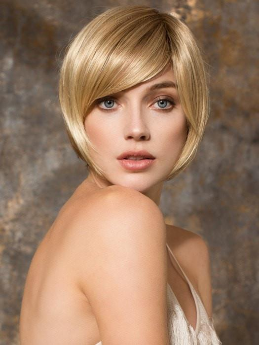 FRESH by Ellen Wille in CHAMPAGNE ROOTED | Light Beige Blonde,  Medium Honey Blonde, and Platinum Blonde Blend with Dark Roots
