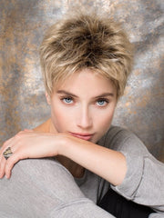 The Ellen Wille Golf is a short rebellious wig with loads of personality and femininity | Color: Sandy Blonde Rooted
