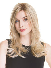 ILLUSION by Ellen Wille in CHAMPAGNE ROOTED | Light Beige Blonde,  Medium Honey Blonde, and Platinum Blonde Blend with Dark Roots