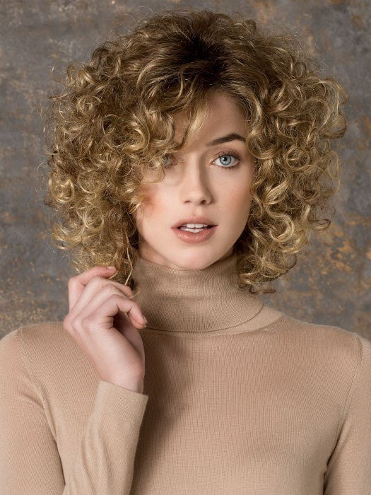 JAMILA HI by Ellen Wille in BERNSTEIN ROOTED | Light Brown Base with Subtle Light Honey Blonde and Light Butterscotch Blonde Highlights and Dark Roots