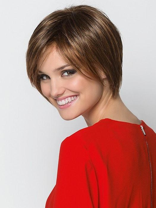 Side-swept bangs and feathery layers