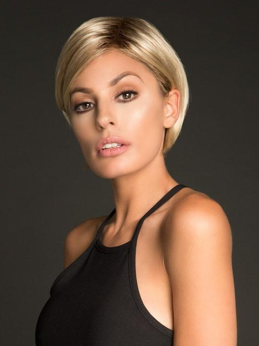 A sophisticated, chin-length bob that gets a modern update with a perfectly cut nape
