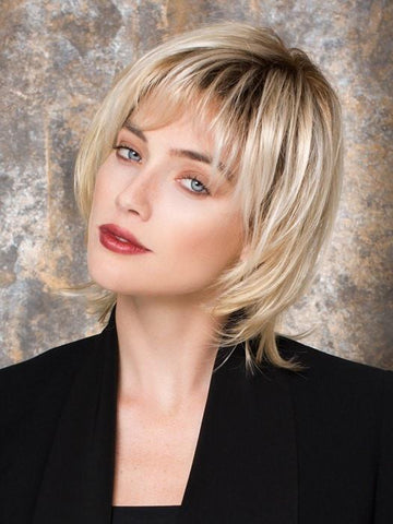 LIMIT by Ellen Wille in LIGHT CHAMPAGNE ROOTED | Pearl Platinum and Light Golden Blonde Blend with Medium Brown Roots