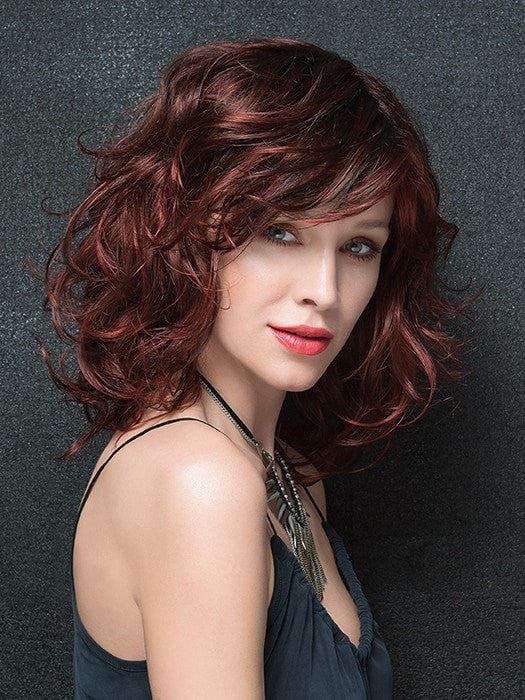 LOAD by Ellen Wille in HOT CHILI ROOTED | Bright Copper Red and Medium Burgundy Red Blend with Medium to Dark Brown Roots