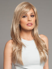 Wigs.com Exclusive Photo | Bang has been layered and styled for the photo | Color: Champagne Mix