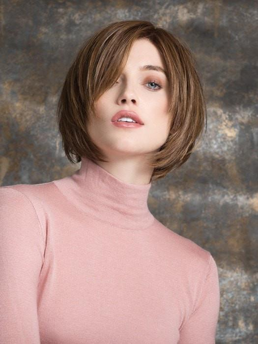 MOOD by Ellen Wille in MOCCA ROOTED | Medium Brown, Light Brown, and Light Auburn Blend with Dark Roots