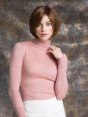 A chin length bob with slightly layered nape