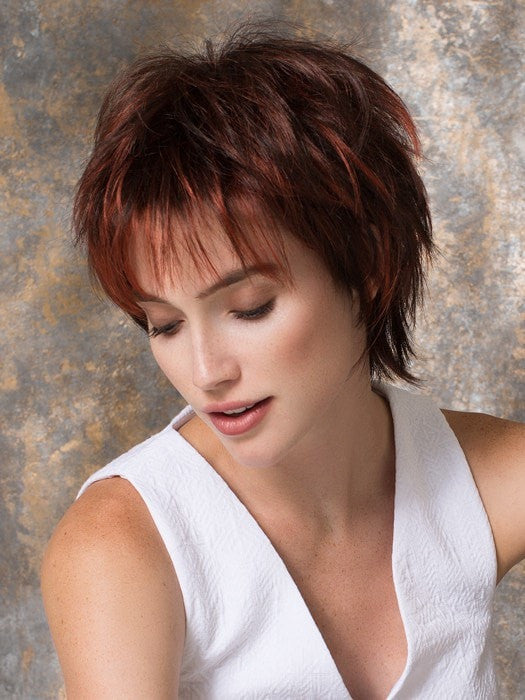 PLAY by Ellen Wille in FLAME MIX | Dark Burgundy Red, Bright Cherry Red, and Dark Auburn BlendD28	 26-27-20	GINGER MIX	Light Honey Blonde, Light Auburn, and Medium Honey Blonde Blend