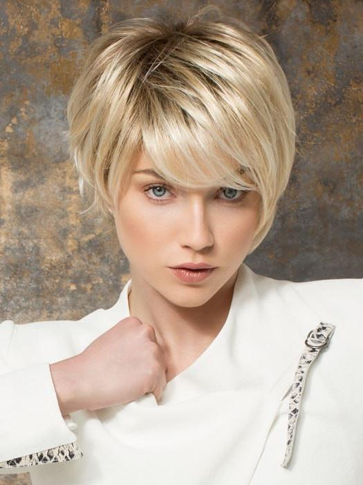 SKY by Ellen Wille in LIGHT HONEY ROOTED | Medium Honey Blonde, Platinum Blonde, and Light Golden Blonde Blend with Dark Roots