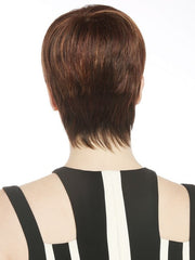 The neckline is expertly tapered