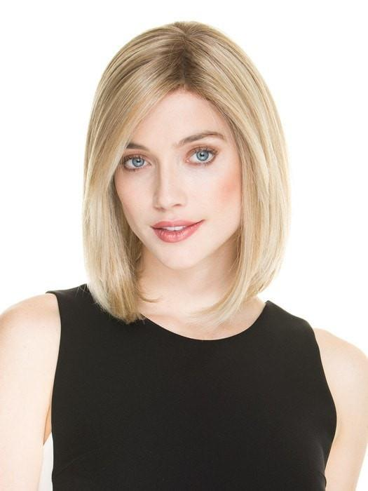 SPIRIT by Ellen Wille in CHAMPAGNE ROOTED | Light Beige Blonde,  Medium Honey Blonde, and Platinum Blonde Blend with Dark Roots