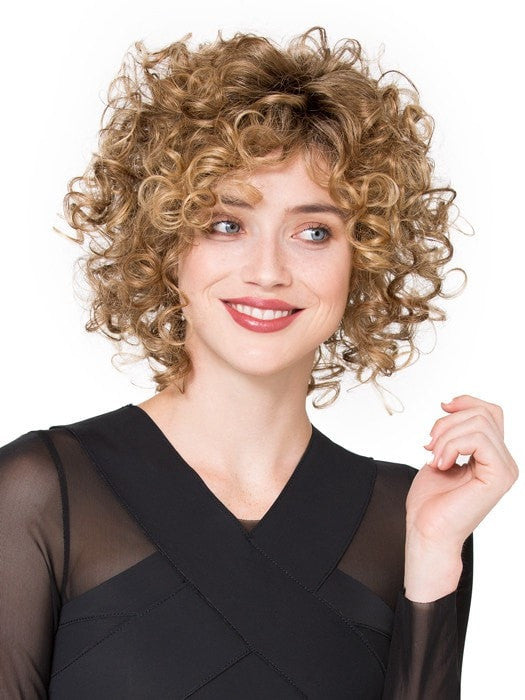 Try combing out the curls for a more full look
