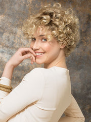 The ringlet curls can be worn polished and tight or can be combed out to loosen the curl