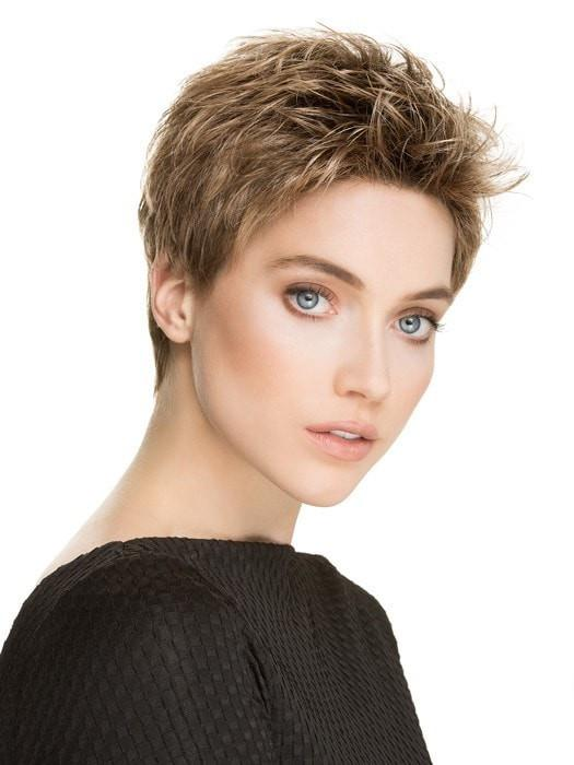 TAB WIG by Ellen Wille in BERNSTEIN MIX | Light Brown Base with Subtle Light Honey Blonde and Light Butterscotch Blonde Highlights