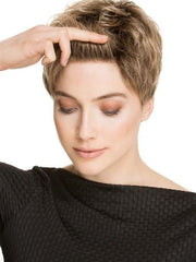 This lace front wig is hand-knotted, ready to wear and virtually invisible