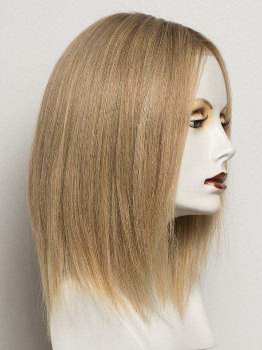 SANDY BLONDE ROOTED | Medium Honey Blonde, Light Ash Blonde, and Dark Ash Blonde blend with Dark Roots