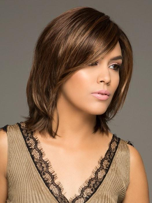 An amazing style that unites silky hair with a professional blunt cut bob