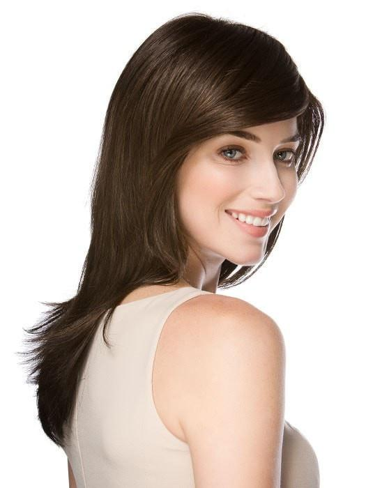 Side bang with long, sleek face-framing layers