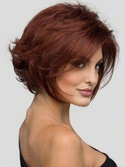 ANGIE by ENVY | Lace Front | Color: Dark Red 33/32 Auburn with Brighter Red highlights