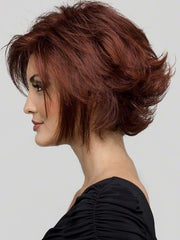 Flipped point cut layers and feathered ends that gives this signature bob wig a modern makeover