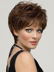 Aubrey Wig by Envy : 100% Hand-tied | Color MEDIUM BROWN