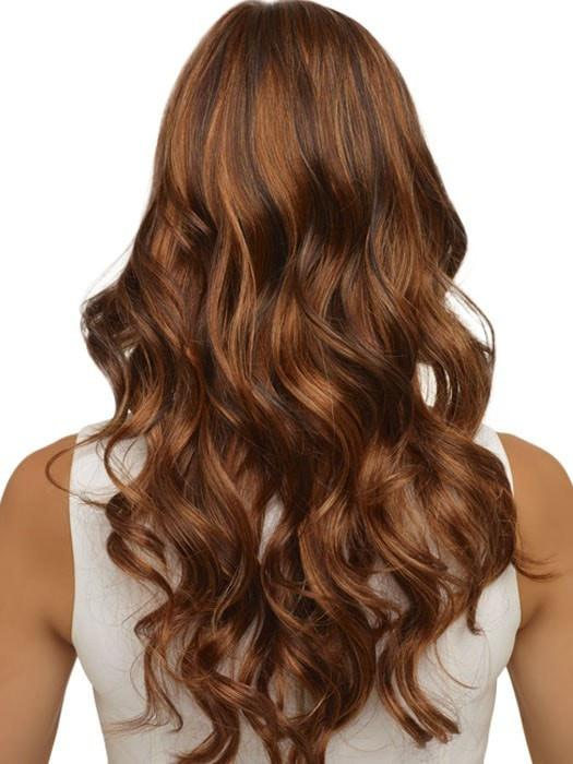 CHOCOLATE CARAMEL | Dark Brown roots with overall Medium Brown base with Deep Red highlights