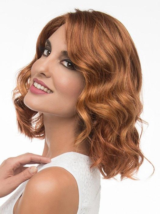 BRITTANEY Wig by Envy in LIGHTER RED | Irish Red with subtle Blonde highlights